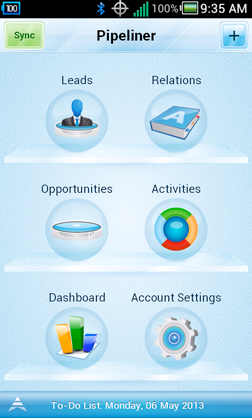 Pipeliner mobile CRM app for Android and iPhome