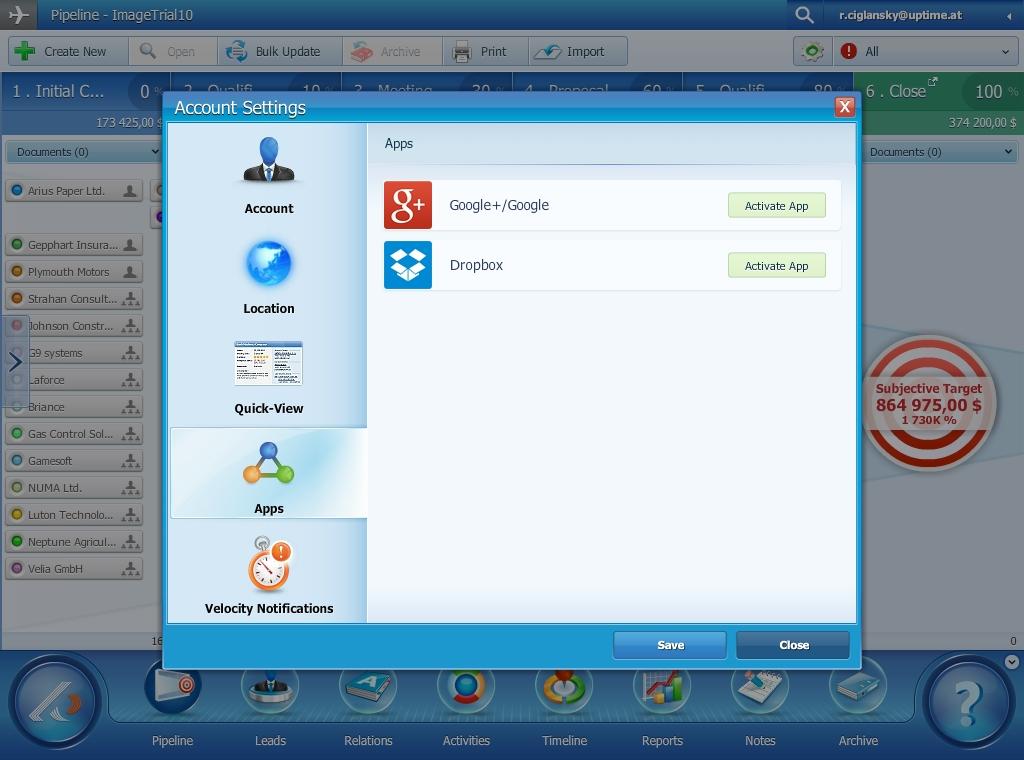 Pipeliner 5 Update - Dropbox & Google Drive App