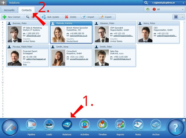 Software for Contacts Database Management