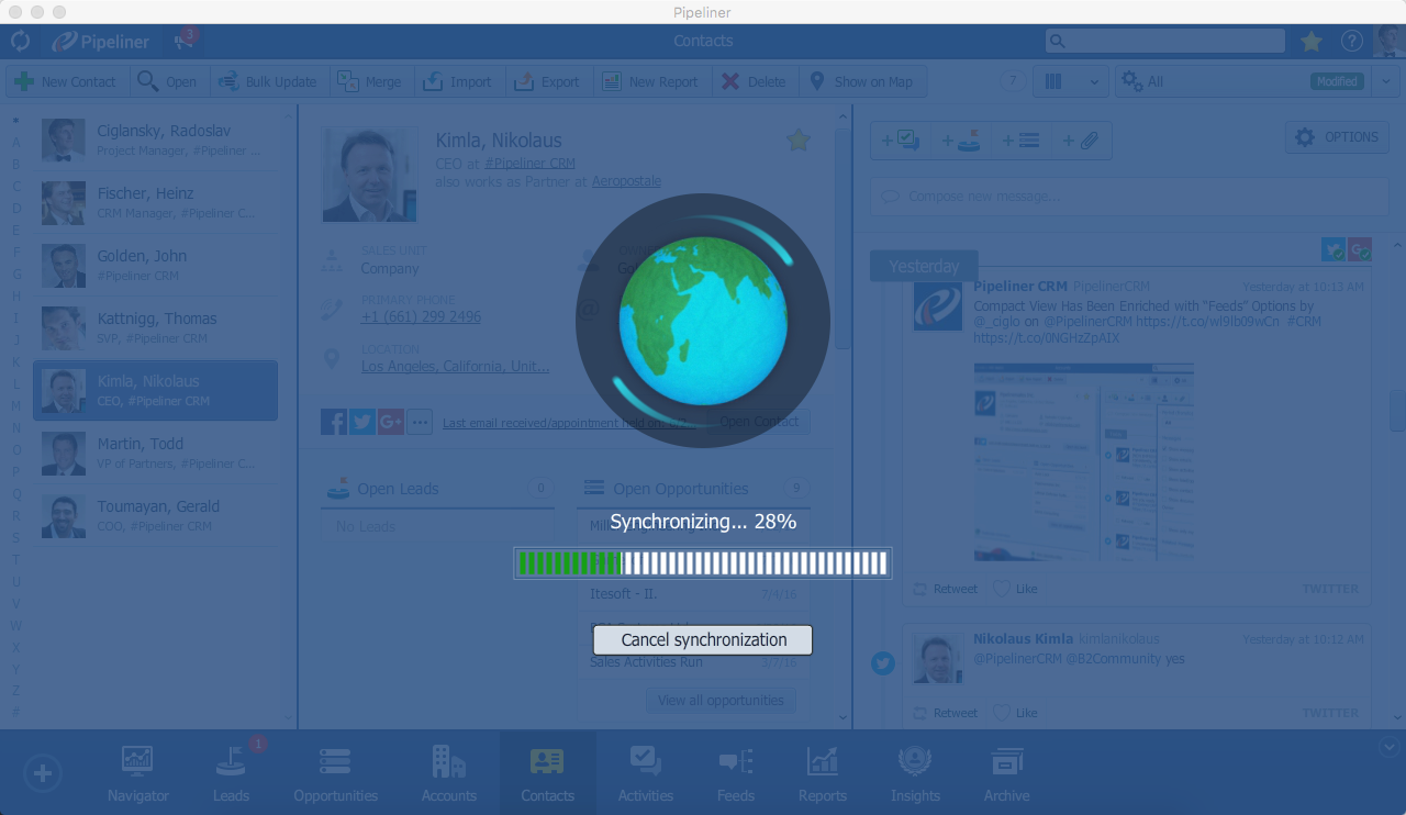 Pipeliner CRM Sync
