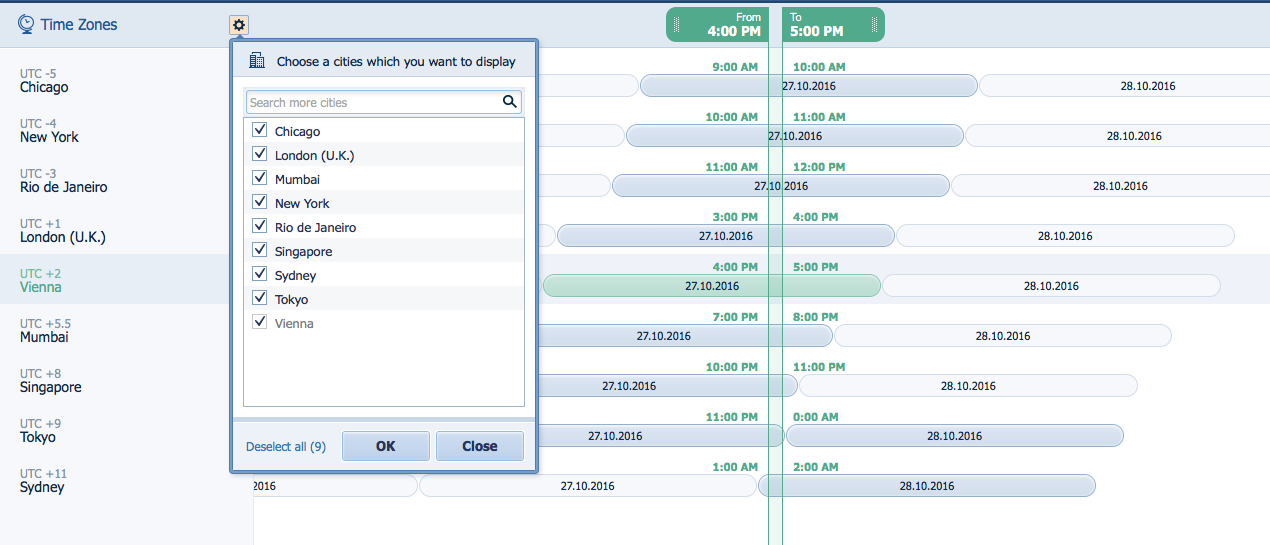 Pipeliner CRM Appointment Planner Zones