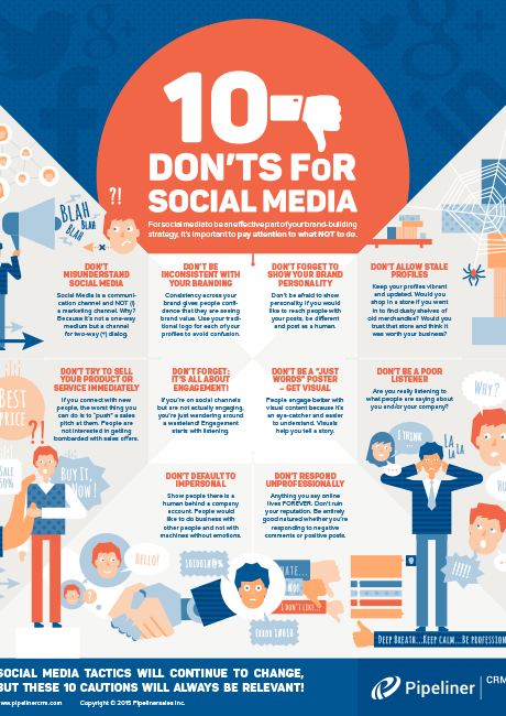 Ten Don'ts for Social Media: The Poster