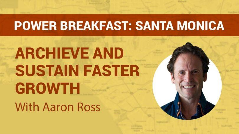 Sales Author Aaron Ross at Pipeliner Power Breakfast Santa Monica