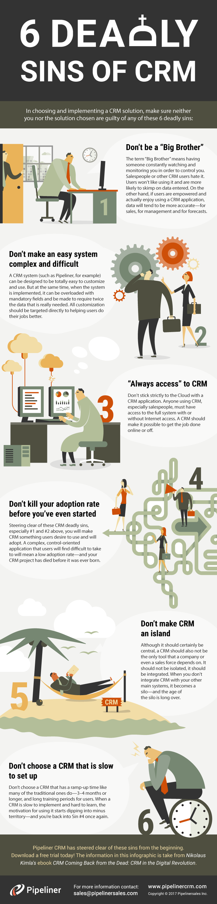 6 Deadly Sins of CRM
