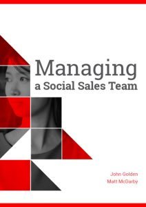 Managing a Social Sales Team Cover book