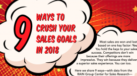 9 Ways to Crush Your Sales Goals in 2018