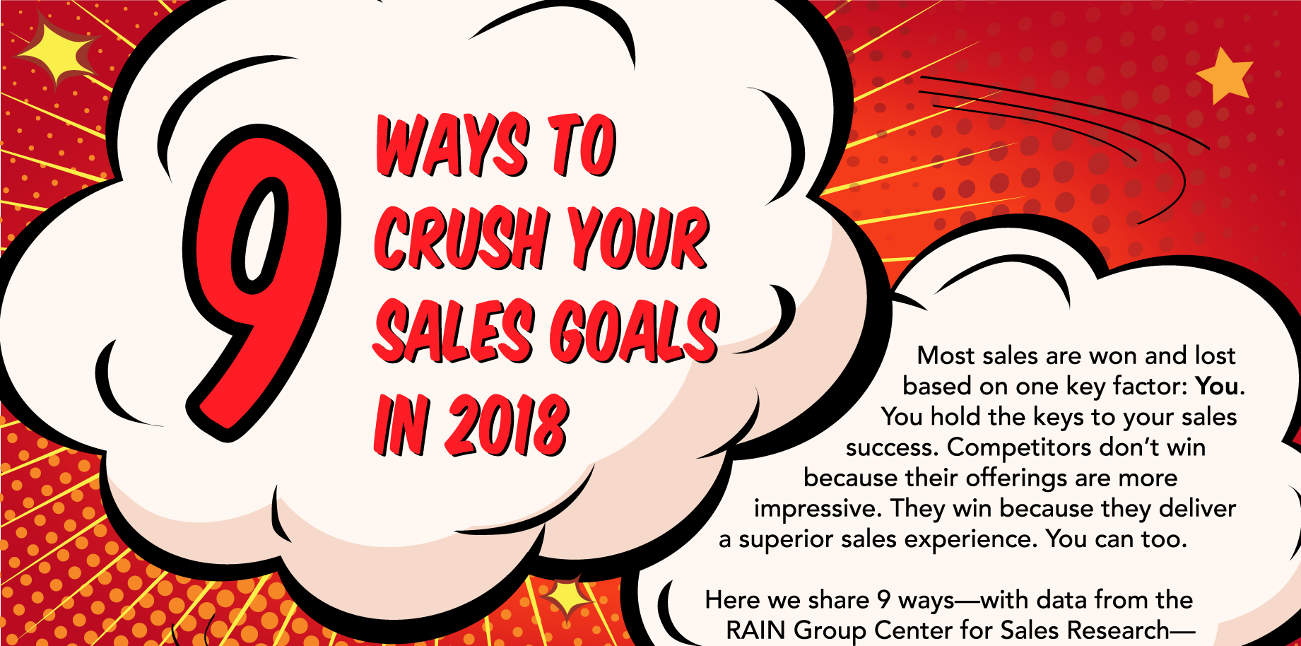 c33df1a9a 9 Ways to Crush Your Sales Goals in 2018 by Mike Schultz - SalesPOP!