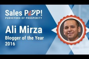 Ali Mirza SalesPOP Blogger of the Year 2016