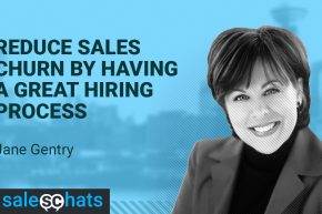 #SalesChats: 10th May 2018 9am PT/Noon ET with Jane Gentry