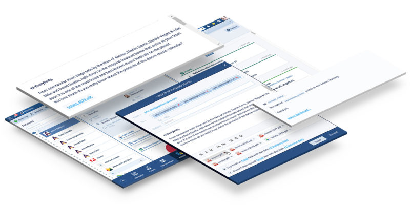 Gmail, sending emails directly from Pipeliner crm system