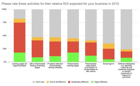 Please rate these activities for their relative ROI expected for your business