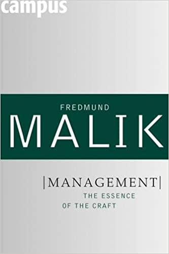 Management: The Essence of the Craft (Management: Mastering Complexity) Cover