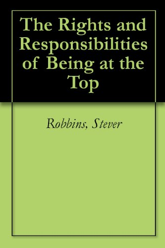 The Rights and Responsibilities of Being at the Top Cover