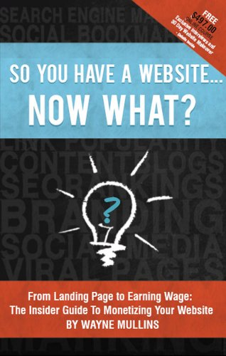 So You Have a Website Now What? Cover