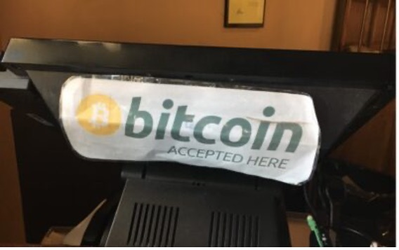 Bitcoin is accepted here